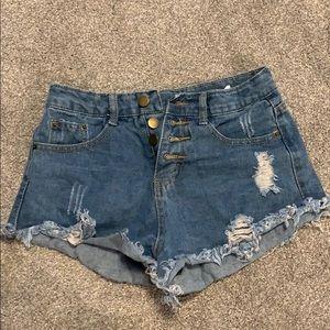 Shein high waisted jean shorts